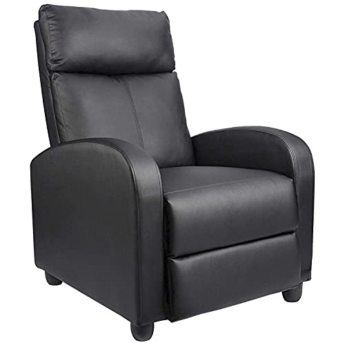 Homall Single Recliner Chair Padded Seat PU Leather Living Room Sofa Recliner Modern Recliner Seat Club Chair Home Theater Seating...