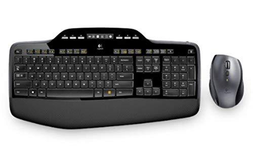 Logitech MK710 Kit Mouse e Tastiera Wireless, Layout US Qwerty, Nero