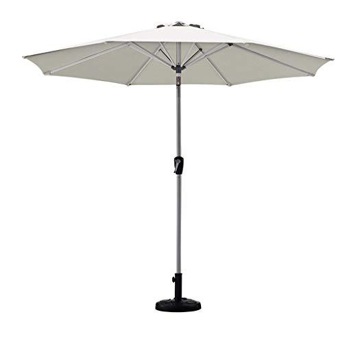 2,7m/Sonnenschirm Höhenverstellung Neigbar Schirmoberfläche Handkurbel Regenschirm Outdoor Wasserdicht Regenschirm Doppellagiges Silberband Winddicht Rahmen Rund Haushalt Einziehbar Braun Wein R