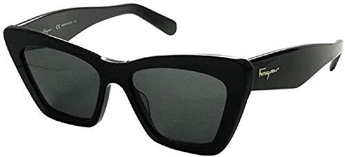 FERRAGAMO Damen SF929S Sonnenbrille, Schwarz, Einheitsgröße