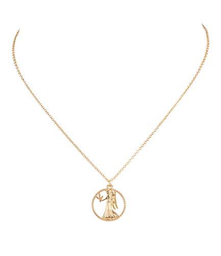 SIX Damen Halskette, Sternzeichen, Jungfrau, Statement Kette, Anhänger, Symbol, Gold (758-936)