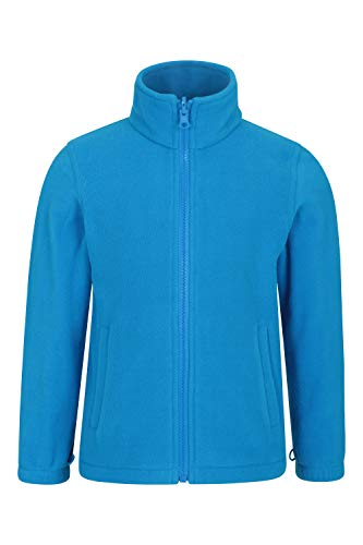 Mountain Warehouse Fell Kids 3 in 1 Jacket - Water Resistant Triclimate Rain Jacket, Detachable Inner Jacket, Packaway Hood Kids Coat, for Winter Walking, Hiking Cobalt 7-8 Years