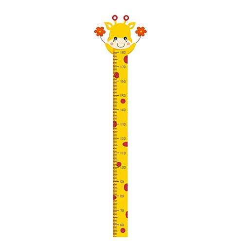 HuaHong Messlatte Kind, Höhe Wachstum Diagramm, Wandtattoo Messlatte Lineal Baby Messtabelle für Kinder Kinderzimmer Deko (Color : Giraffe)