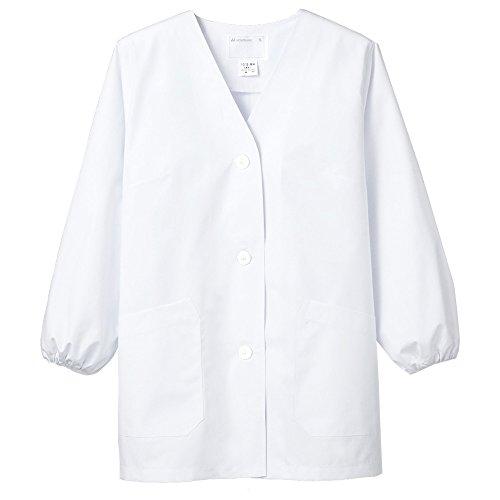 (モンブラン) Montblanc 調理衣 和食 白衣 長袖 衿なし 女性用 抗菌防臭加工 [O157対応] 1-011 L