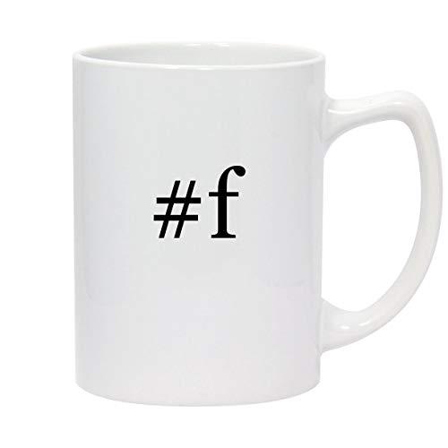 #f - 14oz Hashtag White Ceramic Statesman Coffee Mug