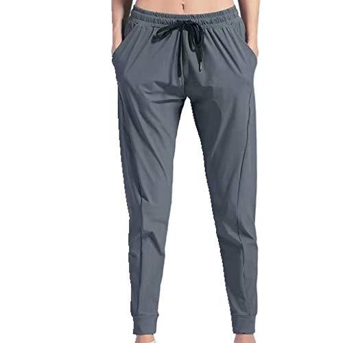 N\P Pantalones de yoga para mujer de secado rápido pantalones con cordón ropa deportiva