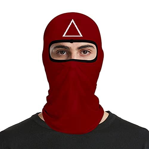 DerberDis Máscara de cosplay de Squid Game Mask, 2021 TV, pasamontañas, accesorios de máscaras, disfraz de Halloween, accesorio para moto, ciclismo, esquí, 03#rojo, Talla única