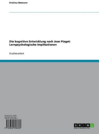 Jean Piagets Theorie Der Kognitiven Entwicklung (Paperback or Softback)