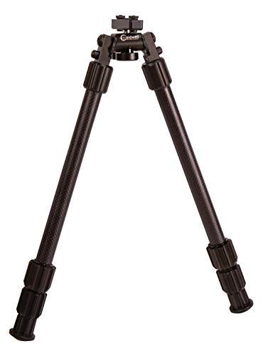Caldwell Accumax Premium Carbon Fiber M-Lok KeyMod Bipod with Twist Lock Quick-Deployment Legs for Long Gun Rifle for Tactical Shooting Range and Sport