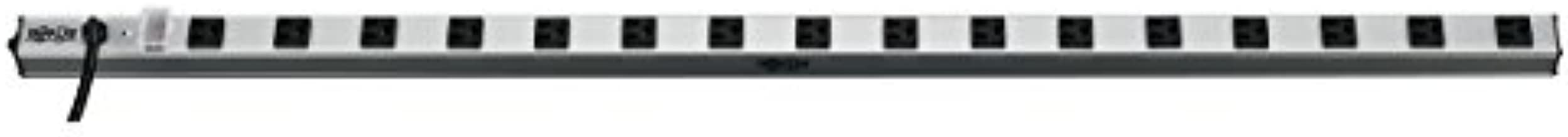 Tripp Lite 16 Outlet Bench & Cabinet Power Strip, 48 in. Length, 15ft Cord with 5-15P Plug, (PS4816) Black