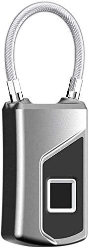 ZouYongKang Candado Digital Candado Digital Candado Locker Lock Metal Keyless ThumbPrint Bloqueo para el Armario de Gimnasia, Locker de la Escuela, Mochila, Maleta, Equipaje