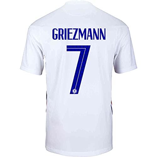 Backboards 2021 European Cup Jersey,France Camiseta Segunda Equipación,Hombre Blanco Camiseta de Manga...