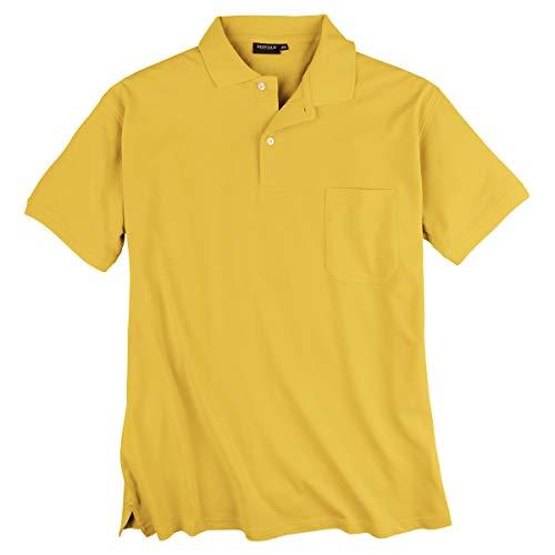 Redfield gelbes Piqué Poloshirt Übergröße, XL Größe:3XL