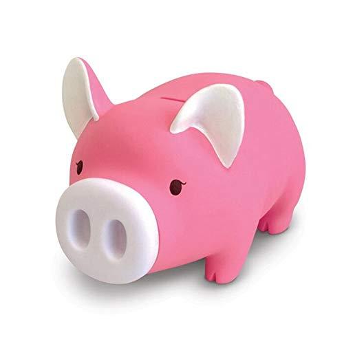 ZAKRLYB Piggy Bank Vinyl Lavable Piggy Bank Monedas Billetes de banco antideslizantes portátiles de escritorio Nariz Muchacha desmontable Niños Interés de almacenamiento Adecuado para decoración de es
