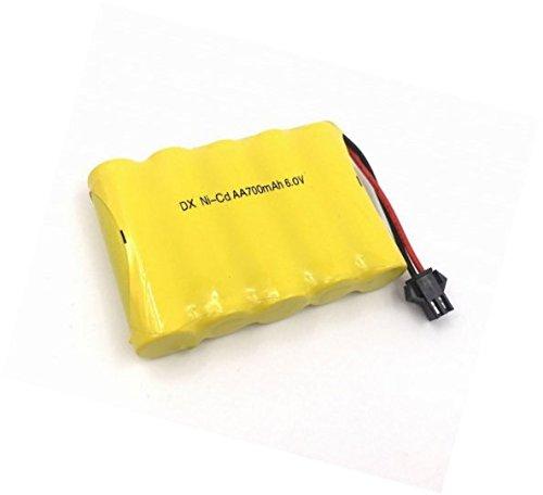 YUNIQUE ESPAGNE® 1 PIEZA AA recargable de 6V 700mAh paquetes de baterías Ni - CD SM 2P plug para juguetes de banco de potencia