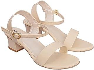 Zeenat Fashions Women's Fancy Block Heel sandals
