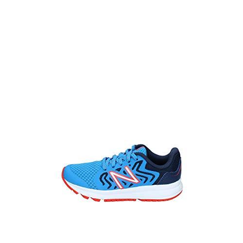 New Balance Kid's 519 V2 Lace-Up Running Shoe, Vision Blue/Natural Indigo/Neo Flame, 2.5 M US Little Kid