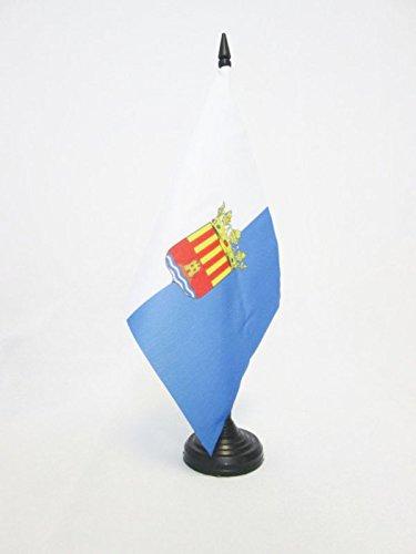 AZ FLAG TISCHFLAGGE Provinz Alicante 21x14cm - Alicante IN Spanien TISCHFAHNE 14 x 21 cm - flaggen