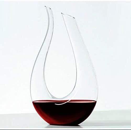 Decanter U Typ Wein, Kreative Split Bleifreie Karaffe, Sake-Fass, Wein-Geschenk, Weinzubehör, Rotwein Glasflasche Separator, Fast, 1500ml Xuan - wert, yqaae