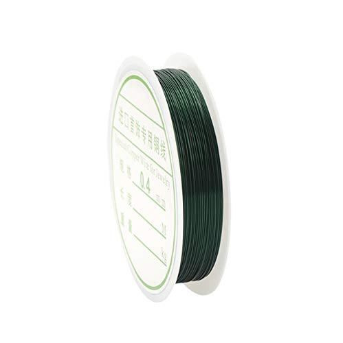 ZIJ Alambre de joyería de 0,3 mm/0,4 mm de alambre de cobre multicolor para cuentas de alambre de cuentas de hilo de joyería para hacer manualidades (color: verde, tamaño: 0,4 mm 8 metros)