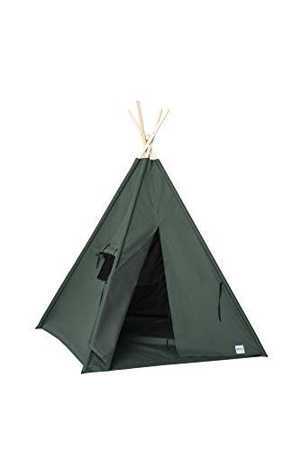 cozydots - Tipi Zelt für Kinder, Kinderzelt - Wasserdicht Set Indianerzelt für Kinder Outdoor und Indoor (Grün)