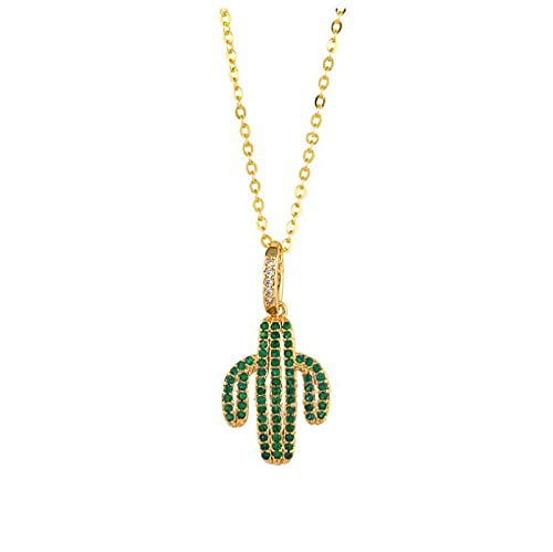 Kaktus Jack Kreuz Buchstaben Anhänger Micro Paved Cubic Zirkonia Vergoldet Halskette Herren Damen Hip Hop Rock