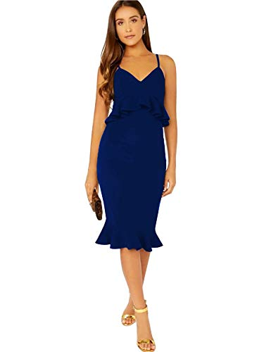 Alekya Women's Knee Length Midi Western Dress (A-005)