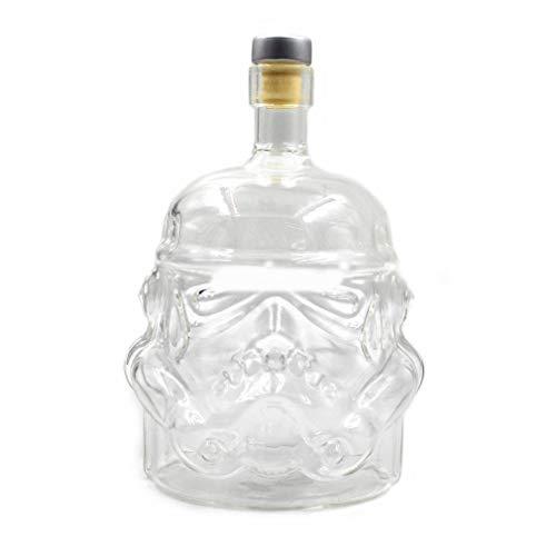 ANR Transparente kreative Whiskyflasche Karaffe Dekanter Stormtrooper Glasflasche Wein Dekanter Glasbecher (transparent)