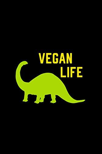 Vegan Life: veganism vegetarian Funny Gift Lined Journal Notebook Diary