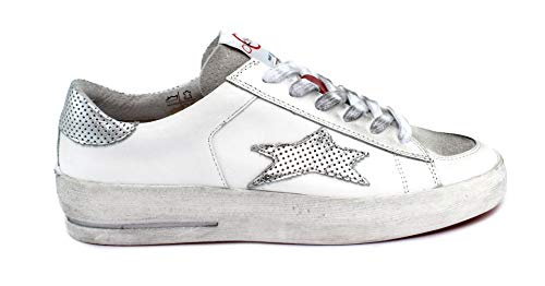Ishikawa Sneaker Basket 1857 Taglia 37 - Colore Bianco/Argento
