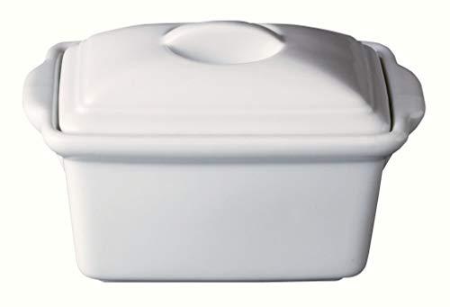 Maruri 陶磁器製16㎝テリーヌ型 (満水380㏄・8分目で約270㏄)