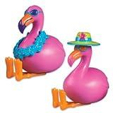 Oasis Supply Cupcake-/Kuchen-Dekoration, 6,4 cm, Flamingo-Verzierungen, 2 Stück