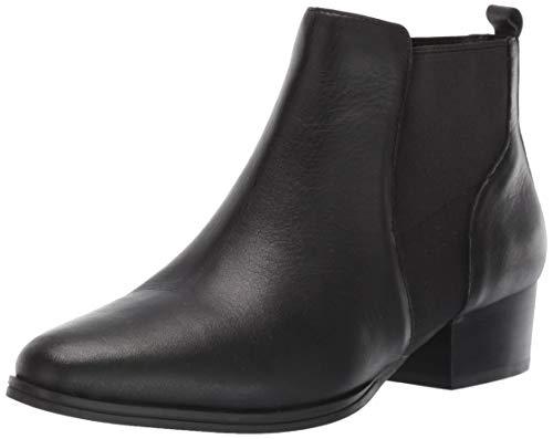 Aerosoles Women's Criss Cross Ankle Boot, Black Leather, 6.5 M US