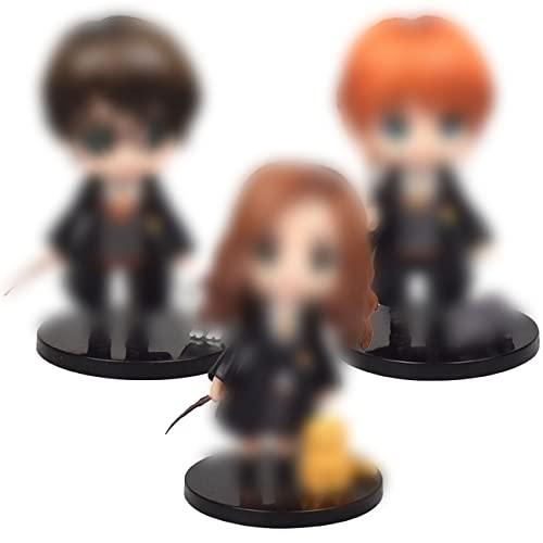 Harry Potter Figurines - DNDZ Gâteau Topper Mini Figurine Enfants Wizard Cake Topper pour Décoration de Gâteau Mini Jouets et Gâteau De Douche Fête d'anniversaire Fête Décoration (3pcs)