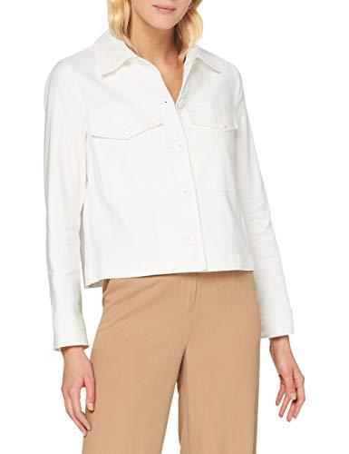 United Colors of Benetton Giacca Abrigo, Blanco (Snow White 074), 42 (Talla del Fabricante: 46) para Mujer