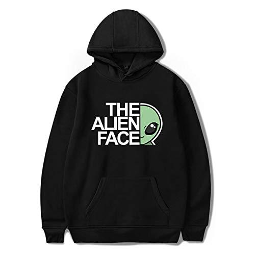 SIMYJOY Unisex Storm Area 51 UFO Lustiger Alien Bild Sweatshirts Lässige Hoodie Fashion Kapuzenpullover für Männer, Frauen und Teenager schwarz XL