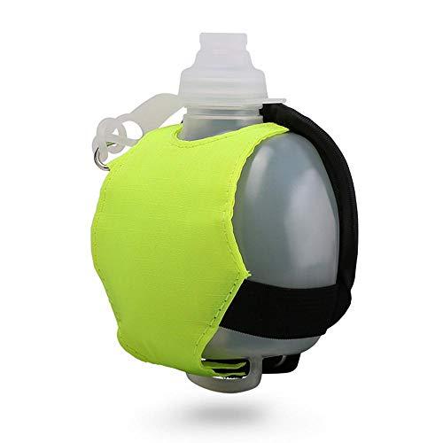 Mitavo Botella de Agua Deportiva, Botella de Agua de Muñeca, Botella para correr, a Prueba de Fugas, Verde, 200 ml