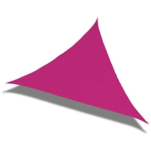 Laxllent Sonnensegel Dreieck 3x3x3m Hot Pink,UV Schutz Wasserdicht,aus Reißfestem PES,Wetterfest Winddicht,Sonnenschutz für Garten Terrasse