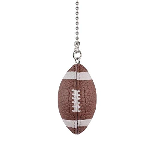 Sports Ball Ceiling Fan Pull Chains, Football Pendant with...