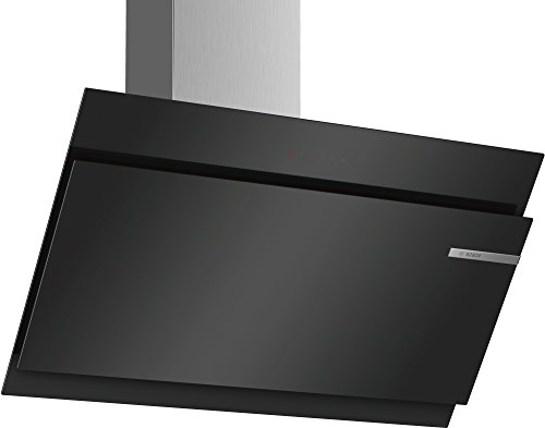 Bosch DWK97JM60 Serie 6 Wandesse / A+ / 90 cm / Klarglas Schwarz / wahlweise Umluft- oder Abluftbetrieb / TouchSelect Bedienung / Silence / Intensivstufe / Metallfettfilter (spülmaschinengeeignet)