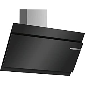 Bosch Serie 6 DWK97JM60 Montado en pared 730m³/h A+ Negro, Acero inoxidable – Campana (Montado en pared, Canalizado…