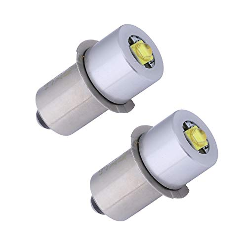 TRLIFE Maglite Replacement Bulbs, Set of 2 Maglite LED Conversion Kit 3W 3V LED Flashlight Bulb P13.5S PR2 Maglite LED Bulb for 2 Cells C&D Maglite Flashlight Headlight