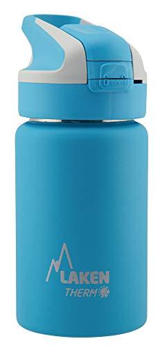 Laken Botella Térmica Summit de Acero Inoxidable para Niños, con Tapón Automático y Cierre de Seguridad, 350 ml, Azul Claro