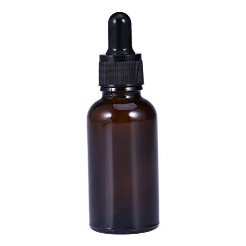Beaupretty Bouteilles D'huile Essentielle de 30 Ml Ronde Bouteille D'ambre Rechargeable Vide de Boston avec Compte-Gouttes en Verre pour Support D'aromathérapie de Parfum Liquide