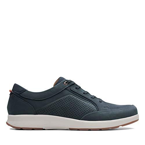 Clarks Un Trail Form, Zapatos de Cordones Derby, Azul (Navy Nubuck-), 41 EU
