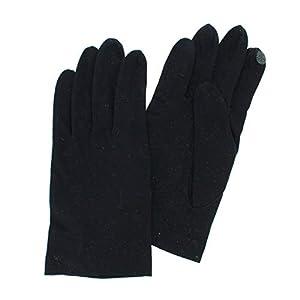 [ヨークス] メンズ UV手袋 抗菌 抗ウイルス 雑菌抑制 感染リスク軽減 綿100% UVカット 指あり 五本指手袋 汚れ分解 スマホ タッチパネル対応 日本製 ショート丈 ブラック