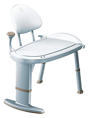 Moen DN7105 Home Care Adjustable Height Non Slip Bath Safety Transfer Bench