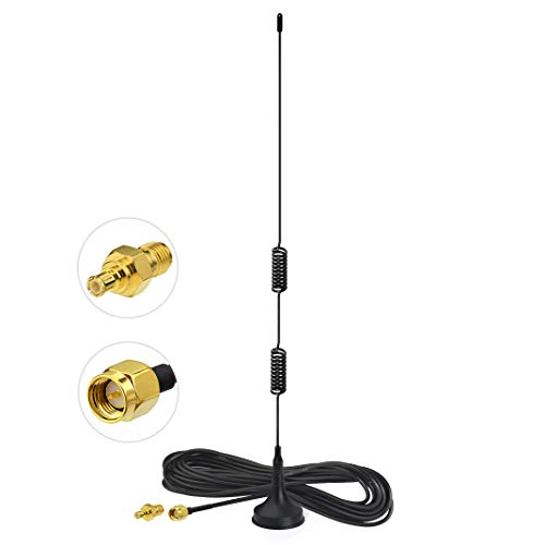 Bingfu Dual Band 978MHz 1090MHz 6dBi Magnetic Base SMA Male MCX Antenna for Aviation Dual Band 978MHz 1090MHz ADS-B Receiver RTL SDR Software Defined Radio USB Stick Dongle Tuner Receiver