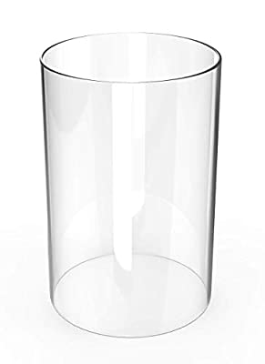 """Amayan Glass Candle Holders - Cylinder Open Ended Glass Hurricane Candle Holder Open 4.3"""" Height 8"""" (Multiple Specifications) from Amayan"""