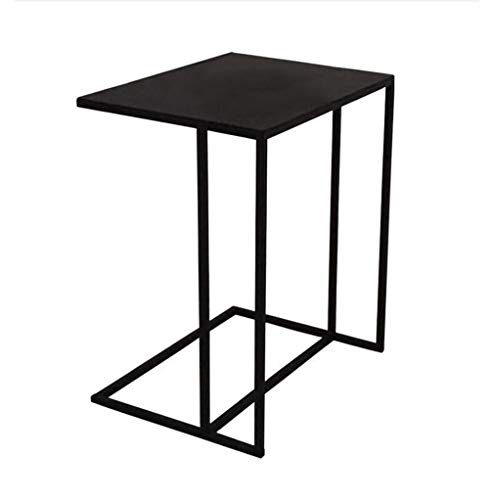 Kleine koffietafel, draagbaar, enkele hoeken, minimalistisch, modern, Scandinavisch, mobiele tafel, café, slaapkamer, bijzettafel, sofa, luifel, kleine tafel, vierkant, kleine salontafel Zwart